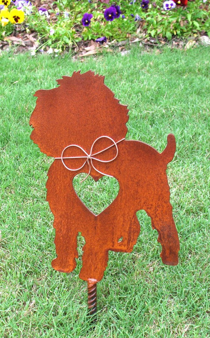 Affenpinscher Dog Metal Garden Stake - Metal Yard Art - Metal Garden Art - Pet Memorial