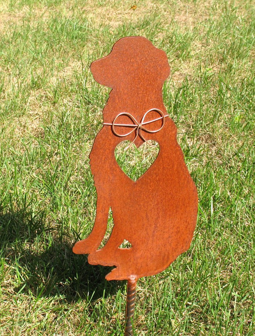 Golden Retriever Dog Metal Garden Stake - Metal Yard Art - Metal Garden Art - Pet Memorial 3