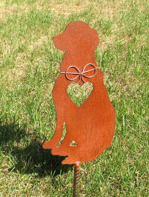 Golden Retriever Dog Metal Garden Stake - Metal Yard Art - Metal Garden Art - Pet Memorial 3