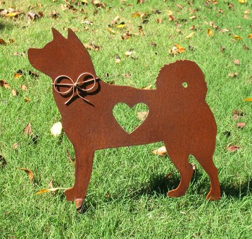 Akita Dog Metal Garden Stake - Metal Yard Art - Metal Garden Art - Pet Memorial