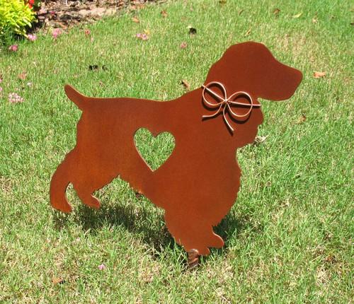 Springer Spaniel Metal Garden Stake - Yard Garden Art - Pet Memorial 2
