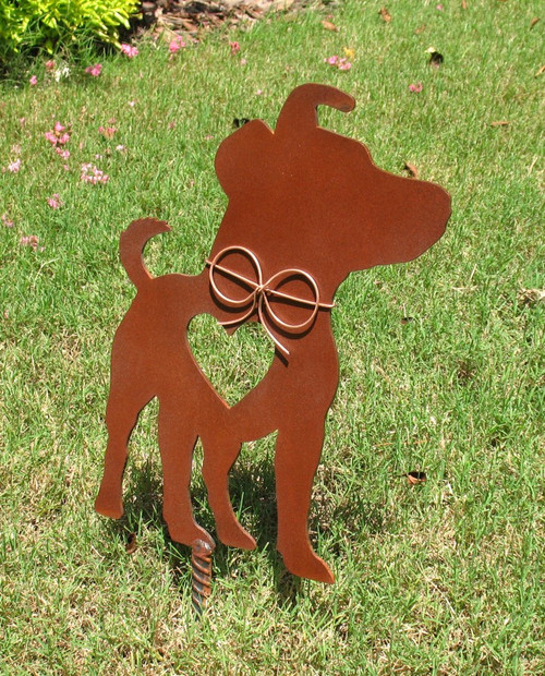 Jack Russell Terrier Dog Metal Garden Stake - Metal Yard Art - Metal Garden Art - Pet Memorial 3