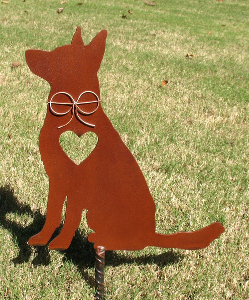 German Shepherd Dog Metal Garden Stake - Metal Yard Art - Metal Garden Art - Pet Memorial 4