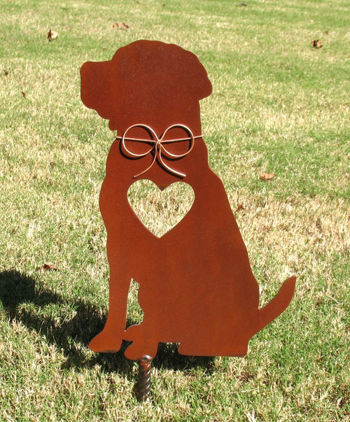 Labrador Retriever Dog Metal Garden Stake - Metal Yard Art - Metal Garden Art - Pet Memorial 3