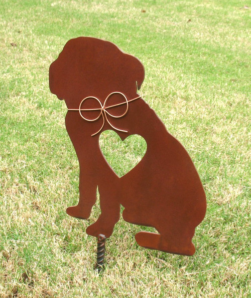 English Bulldog Dog Metal Garden Stake - Metal Yard Art - Metal Garden Art - Pet Memorial 2