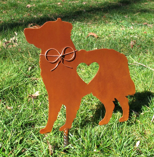 Australian Shepherd Dog Metal Garden Stake - Metal Yard Art - Metal Garden Art - Pet Memorial 2