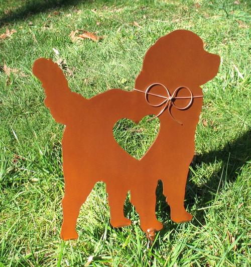 Bernese Mountain Dog Metal Garden Stake - Metal Yard Art - Metal Garden Art - Pet Memorial