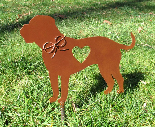 English Mastiff Dog Metal Garden Stake - Metal Yard Art - Metal Garden Art - Pet Memorial 2