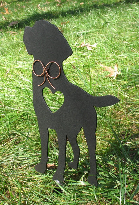 Painted Labrador Retriever Dog Metal Garden Stake - Metal Yard Art - Metal Garden Art - Pet Memorial - 2