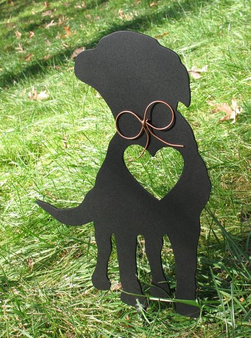 Painted Labrador Retriever Dog Metal Garden Stake - Metal Yard Art - Metal Garden Art - Pet Memorial - 1