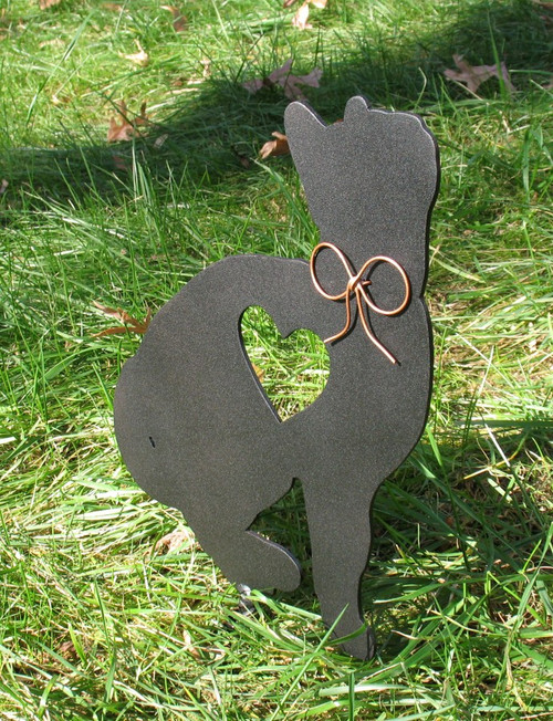 Painted Cat Metal Garden Stake - Metal Yard Art - Metal Garden Art - Pet Memorial - 1