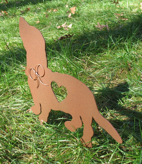 Painted Basset Hound Dog Metal Garden Stake - Metal Yard Art - Metal Garden Art - Pet Memorial - 1