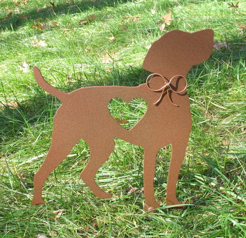 Painted Vizsla Dog Metal Garden Stake - Metal Yard Art - Metal Garden Art - Pet Memorial - 1