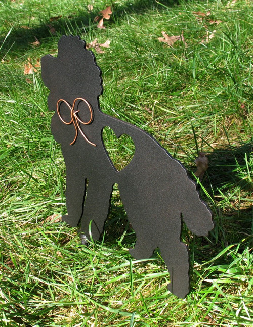 Painted Poodle Dog Metal Garden Stake - Metal Yard Art - Metal Garden Art - Pet Memorial - 2
