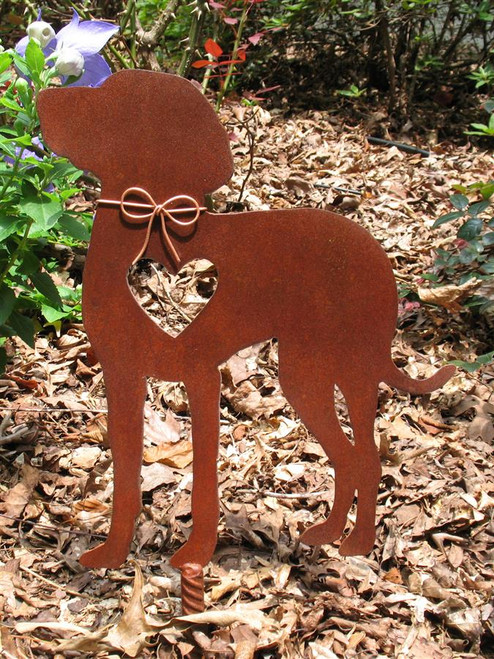 Weimaraner 2 Dog Metal Garden Stake - Metal Yard Art - Metal Garden Art - Pet Memorial