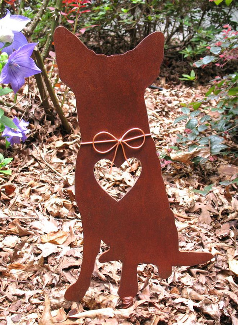Australian Cattle Dog Metal Garden Stake - Metal Yard Art - Metal Garden Art - Pet Memorial