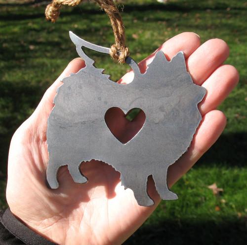 American Eskimo Pet Loss Gift Ornament Angel - Pet Memorial - Dog Sympathy Remembrance Gift - Metal Dog Christmas Ornament