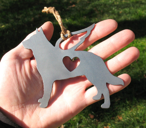 Australian Cattle Dog 3 Pet Loss Gift Ornament Angel - Pet Memorial - Dog Sympathy Remembrance Gift - Metal Dog Christmas Ornament