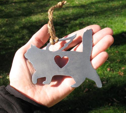 Birman Cat Memorial Angel - Cat Loss Gift - Pet Loss Cat Sympathy Remembrance Gift - Metal Cat Christmas Ornament - Cat Lover