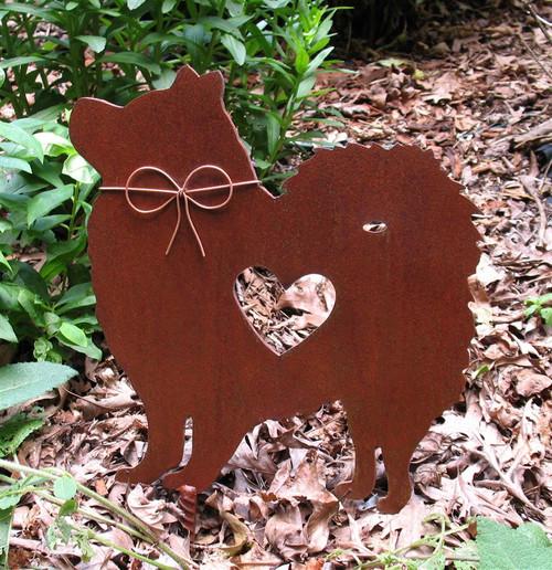 Samoyed Dog Metal Garden Stake - Metal Yard Art - Metal Garden Art - Pet Memorial