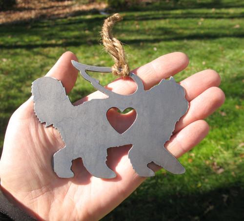 Persian Cat Memorial Angel - Cat Loss Gift - Pet Loss Cat Sympathy Remembrance Gift - Metal Cat Christmas Ornament - Cat Lover