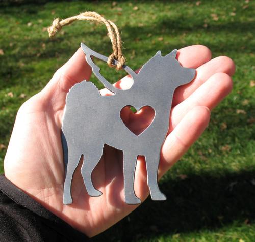 Shiba Inu Pet Loss Gift Ornament Angel - Pet Memorial - Dog Sympathy Remembrance Gift - Metal Dog Christmas Ornament