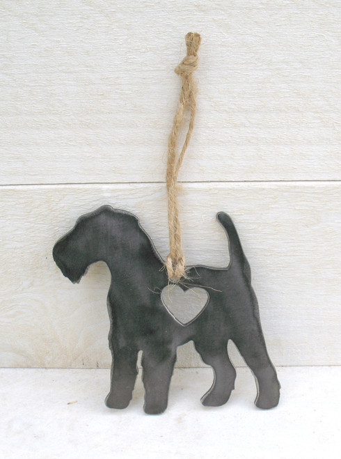 Airedale Terrier Dog Ornament - Metal Dog Christmas Ornament - Pet Lover Memorial Ornament - Pet Loss Dog Memorial Ornament - Gift