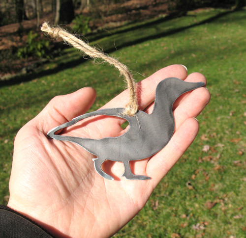 Duck Ornament - Rustic Raw Steel Easter Basket Gift for Her Him - Metal Animal Lover Gift - Duck Gift