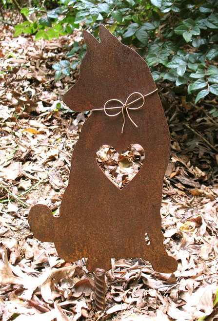 Husky Samoyed Dog Metal Garden Stake - Metal Yard Art - Metal Garden Art - Pet Memorial