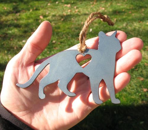 Abyssinian Cat Memorial  - Cat Loss Gift - Pet Loss Cat Sympathy Remembrance Gift - Metal Cat Christmas Ornament - Cat Lover