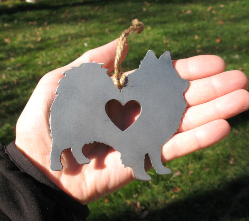 American Eskimo Pet Loss Gift Ornament - Pet Memorial - Dog Sympathy Remembrance Gift - Metal Dog Christmas Ornament