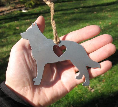 Australian Cattle Dog 3 Pet Loss Gift Ornament - Pet Memorial - Dog Sympathy Remembrance Gift - Metal Dog Christmas Ornament
