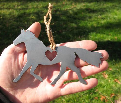 Horse 2 Pet Loss Gift Ornament - Pet Memorial - Pet Loss Sympathy Remembrance Gift - Metal Horse Christmas Ornament