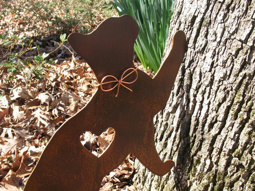 Cat Metal Garden Stake - Metal Yard Art - Metal Garden Art - Pet Memorial