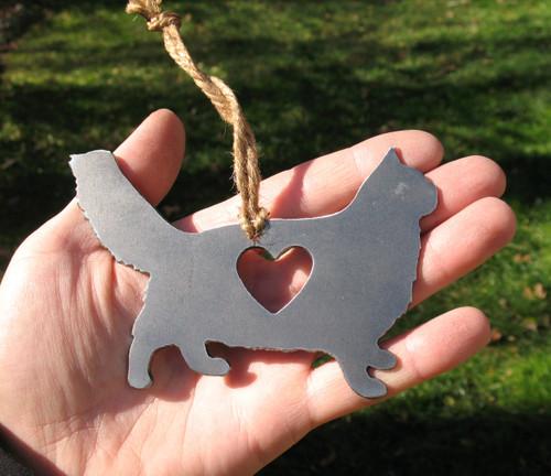 Maine Coon Cat Memorial - Cat Loss Gift - Pet Loss Cat Sympathy Remembrance Gift - Metal Cat Christmas Ornament - Cat Lover