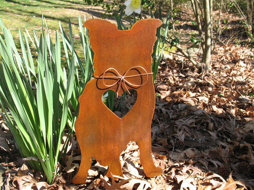 Border Collie Dog Metal Garden Stake - Metal Yard Art - Metal Garden Art - Pet Memorial