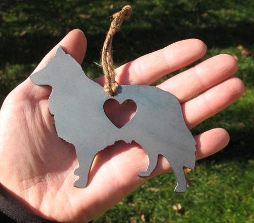 Shetland Sheepdog 2 Pet Loss Gift Ornament - Pet Memorial - Dog Sympathy Remembrance Gift - Metal Dog Christmas Ornament