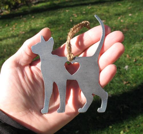 Siamese Cat Memorial - Cat Loss Gift - Pet Loss Cat Sympathy Remembrance Gift - Metal Cat Christmas Ornament - Cat Lover