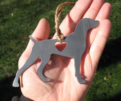 Weimaraner 3 Pet Loss Gift Ornament - Pet Memorial - Dog Sympathy Remembrance Gift - Metal Dog Christmas Ornament