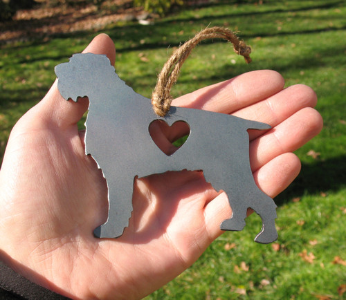 Wirehaired Pointing Griffon Pet Loss Gift Ornament - Pet Memorial - Dog Sympathy Remembrance Gift - Metal Dog Christmas Ornament