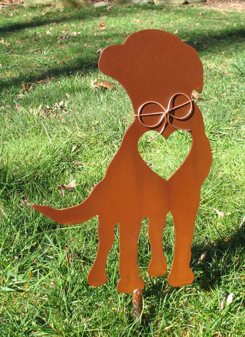 Labrador Retriever Dog Metal Garden Stake - Metal Yard Art - Metal Garden Art - Pet Memorial