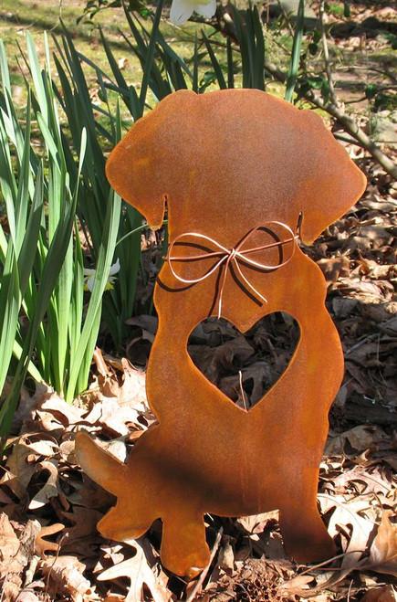 Golden Retriever Dog Metal Garden Stake - Metal Yard Art - Metal Garden Art - Pet Memorial