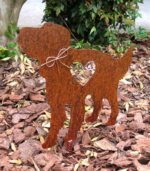 Irish Setter Dog Metal Garden Stake - Metal Yard Art - Metal Garden Art - Pet Memorial