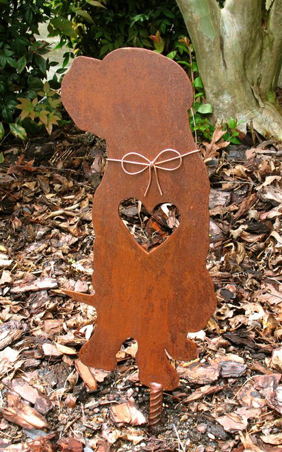 Mastiff Dog Metal Garden Stake - Metal Yard Art - Metal Garden Art - Pet Memorial