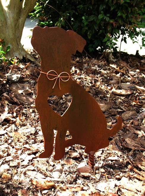 Jack Russell Terrier Dog Metal Garden Stake - Metal Yard Art - Metal Garden Art - Pet Memorial