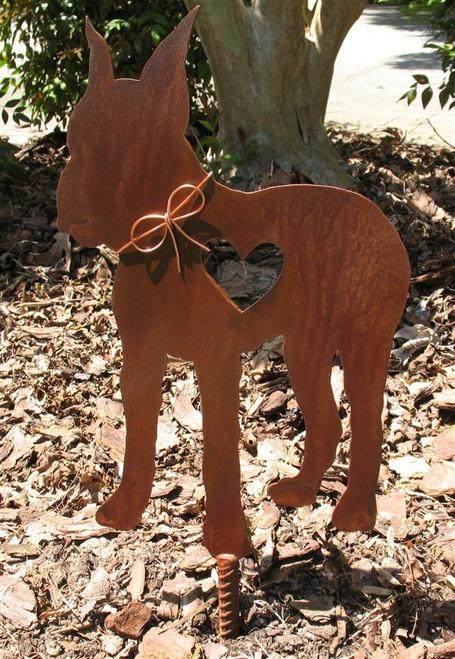 Great Dane Dog Metal Garden Stake - Metal Yard Art - Metal Garden Art - Pet Memorial