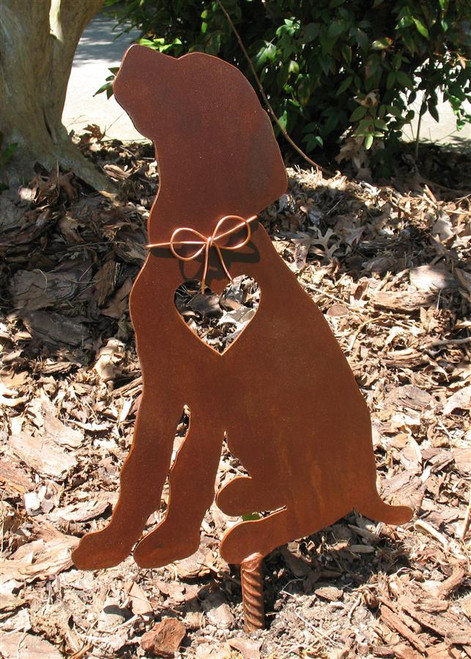 German Pointer Dog Metal Garden Stake - Metal Yard Art - Metal Garden Art - Pet Memorial