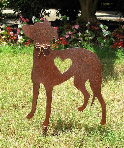 Italian Greyhound Metal Garden Stake Memorial