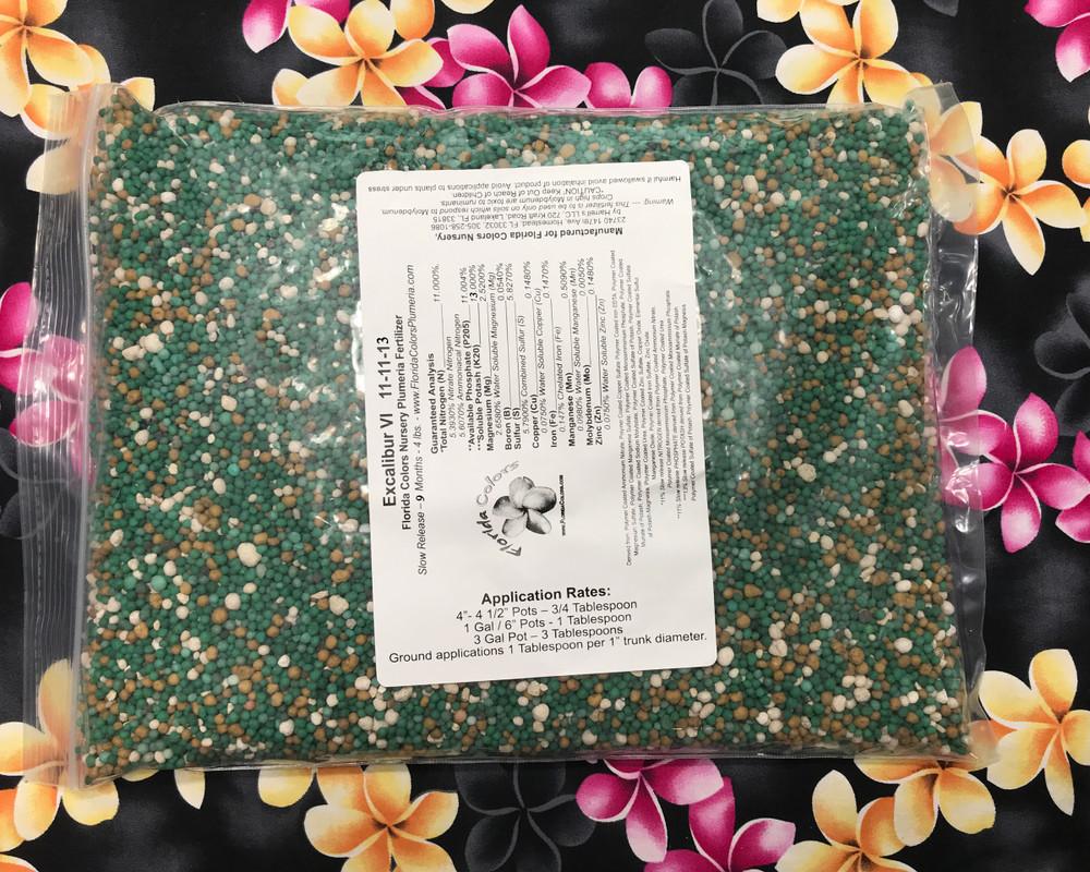 Excalibur Plumeria Fertilizer IX - NPK 11-11-13 Includes Shipping