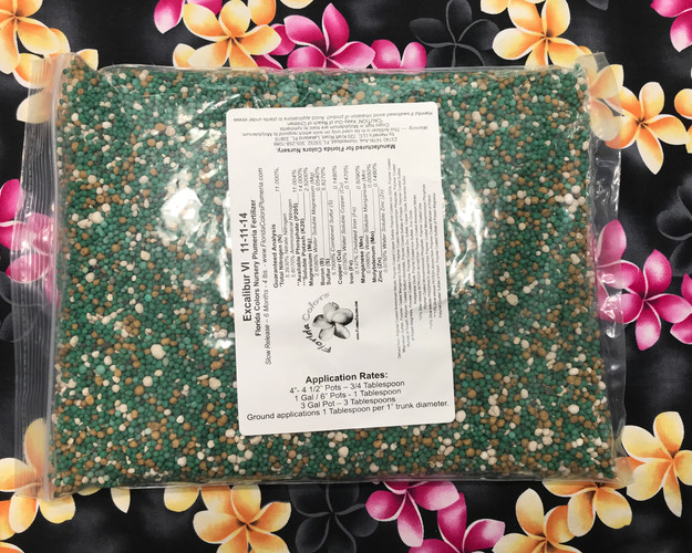 Excalibur Plumeria Fertilizer VI - NPK 11-11-14 Includes Shipping